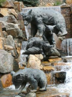 Sculpture of a Bear Family