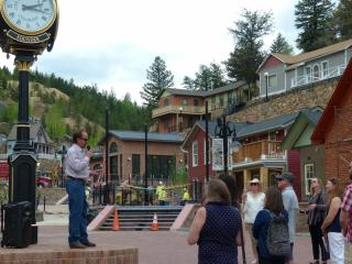Mayor Spellman speaking to the Colorado Tourism Group